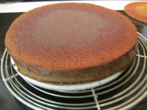 Cake Inverted onto Board