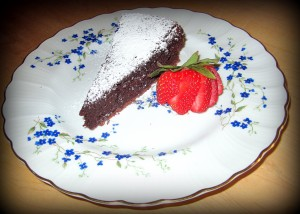 Plated Serving of Cake